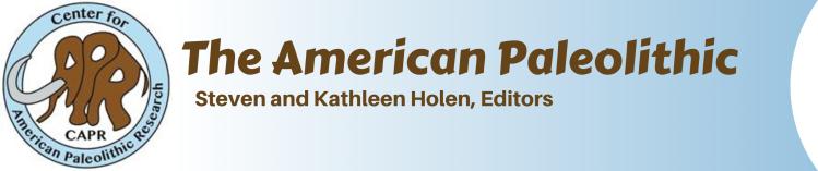 The American Paleolithic Steven and Kathleen Holen, Editors
